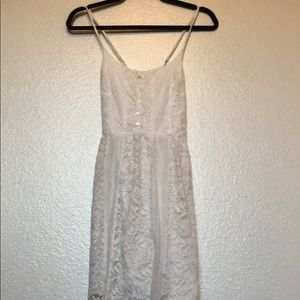 A&F White Floral Design Dress